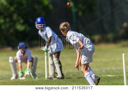 Cricket Juniors Game Action
