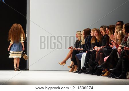 Minsk-october 29: An Unidentified Girl Wears Kutsepova Collection At The International Exhibition Of