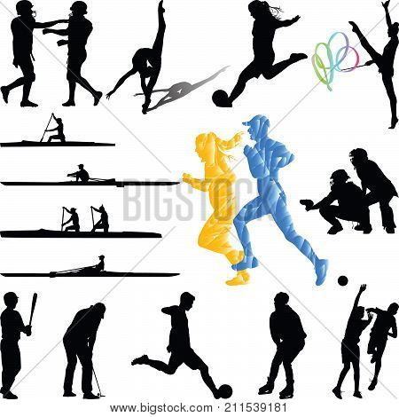Woman Soccer Skating Vector Photo Free Trial Bigstock