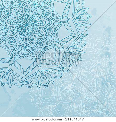Orient ornament, background with arabesque elements, vector design