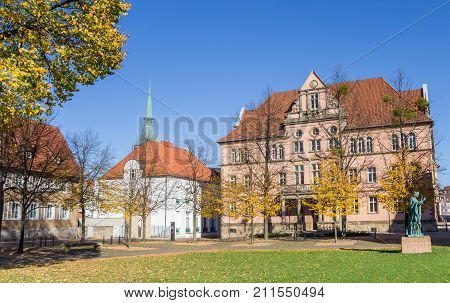 Government Building At The Domhof Square In Hildesheim