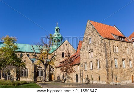Side View Of The Historic Dom Church In Hildesheim