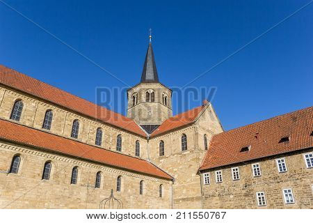 Sde View Of The St. Godehard Church In Hildesheim
