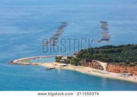 Summer Sea Coast Cala Rosa, Gargano, Puglia, Italy