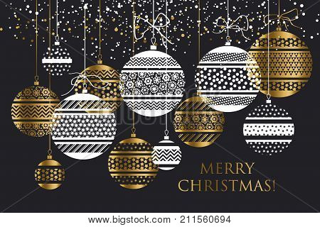 luxury style bauble ornament vector illustration. Xmas and new year fancy ornament motif for card, invitation, poster, header