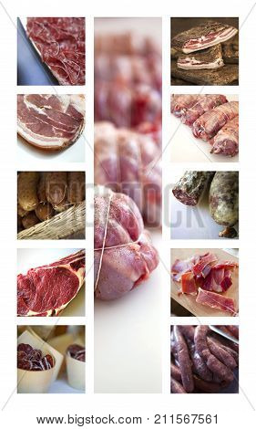 Meats On A Collage