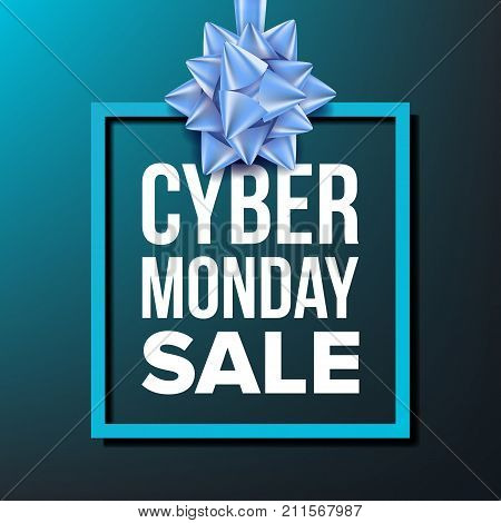 Cyber Monday Sale Banner Vector. Business Advertising Illustration. Cyber Monday Sale Poster. Template Design For Web, Flyer, Cyber Monday Card, Advertising.