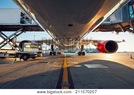 Low Angle View Of The Airplane