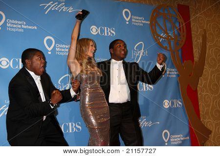 LAS VEGAS - JUN 19:  Kyle Massey, Kim Matula, Christopher Massey in the Press Room of the  38th Daytime Emmy Awards at Hilton Hotel & Casino on June 19, 2010 in Las Vegas, NV.