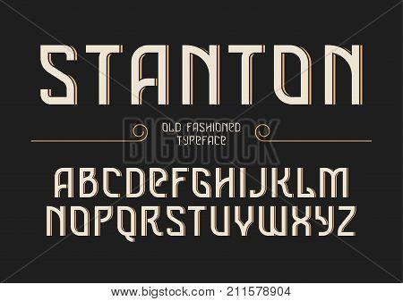 Stanton decorative vector vintage retro typeface font alphabet letters typeface typography design