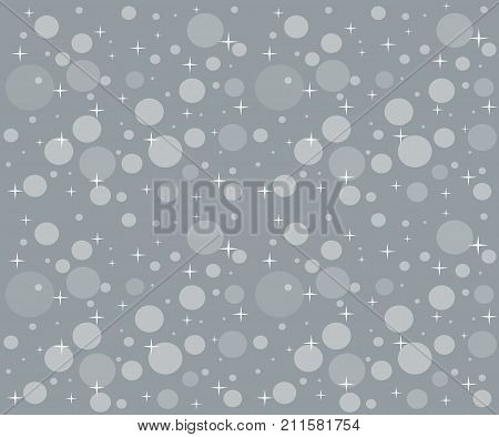Snowfall on the background of overcast sky. Seamless Christmas  pattern with snowflakes is for packaging paper, wrapping packages, greeting card, backdrop, web design  etc. Horizontal location.