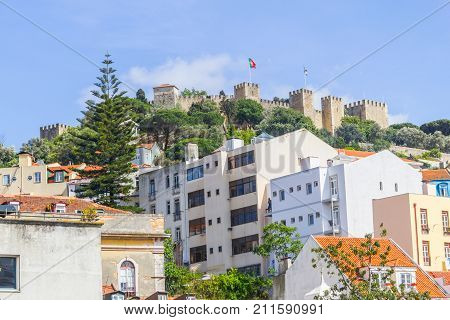 Sao Jorge Castle And Cityview Of Lisboa