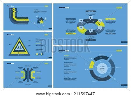 Infographic design set can be used for workflow layout, diagram, report, presentation, web design. Business and workflow concept with process, percentage, arrow, cycle and pie charts.