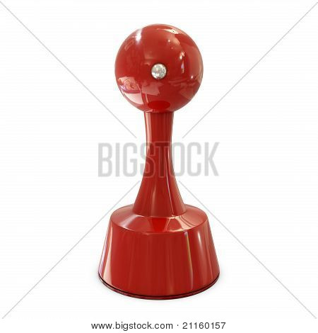 Stamper red cylindrical