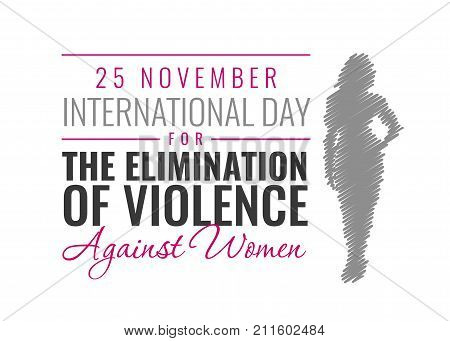 Paper Vector Illustration for International Day for the Elimination of Violence against Women With Silhouette Of a Woman
