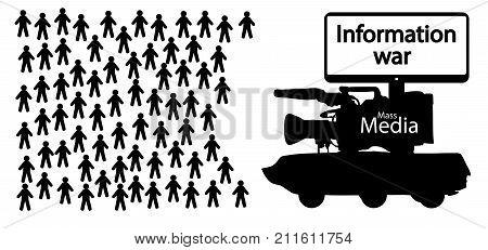 information war , news fake , vector