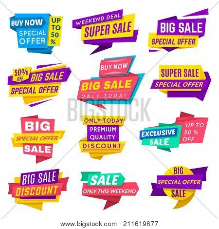 Super sale banner. Special offer banner for web design and discount promotion. Vector flat style cartoon illustration isolated on white background