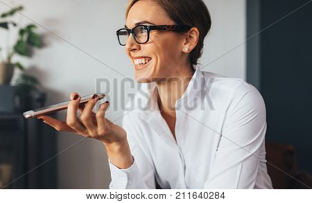 Business Woman Using Mobile Phone
