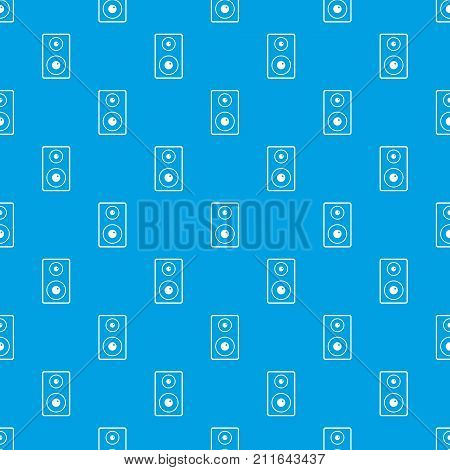 Subwoofer pattern repeat seamless in blue color for any design. Vector geometric illustration