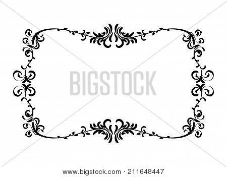 Black Wedding Frame Vector Photo Free Trial Bigstock