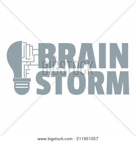 Brain storm logo. Simple illustration of brain storm vector logo for web