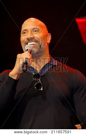 Dwayne Johnson attends the annual Stan Lee's Los Angeles Comic Con 2017 Expo at the Los Angeles Convention Center on Oct. 28, 2017.