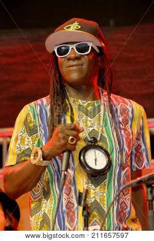 Flavor Flav attends the annual Stan Lee's Los Angeles Comic Con 2017 Expo at the Los Angeles Convention Center on Oct. 28, 2017.