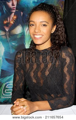 Maisie Richardson-Sellers attends the annual Stan Lee's Los Angeles Comic Con 2017 Expo at the Los Angeles Convention Center on Oct. 28, 2017.