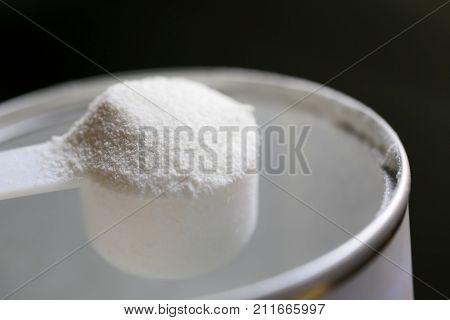 Collagen powder on a cup - Hydrolyzed