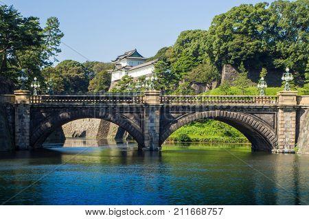 Tokyo Imperial Palace ,tokyo Imperial Palace And The Seimon Ishibashi Bridge : 26 October 2017