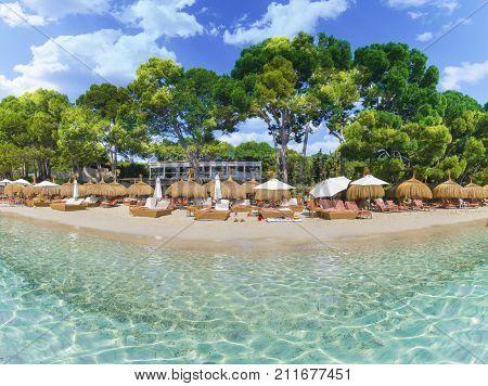 Playa de Formentor (Cala Pi de la Posada ) - beautiful beach at Cap Formentor Palma Mallorca - Spain