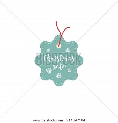 Retail Sale Tags and Clearance Tags. Festive christmas design with snowflakes