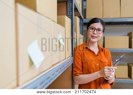Business Woman Working In Online Shopping Company