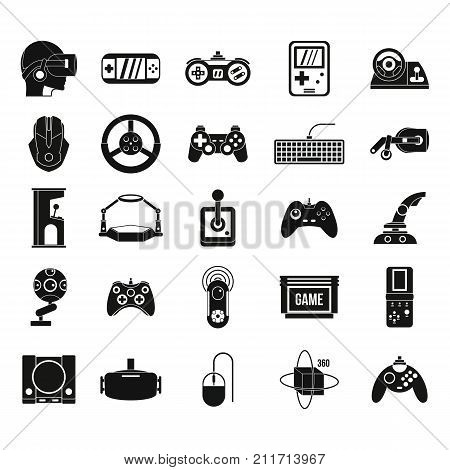 Game console icon set. Simple set of game console vector icons for web design isolated on white background
