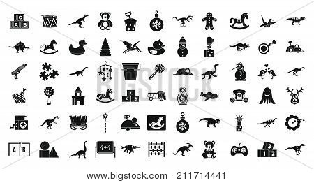 Toys icon set. Simple set of toys vector icons for web design isolated on white background