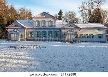 State Historical Artistic and Literary Museum Reserve Abramtsevo. Its owners were writer Aksakov industrialist Mamontov. Russia Moscow region Abramtsevo.