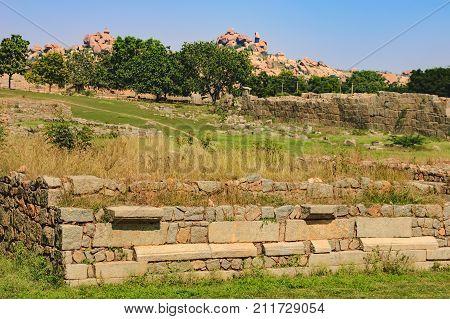 Danaik's Enclosure or Dannayaka's enclosure is an important inner district of the Vijayanagar capital in Hampi, Karnataka, India.