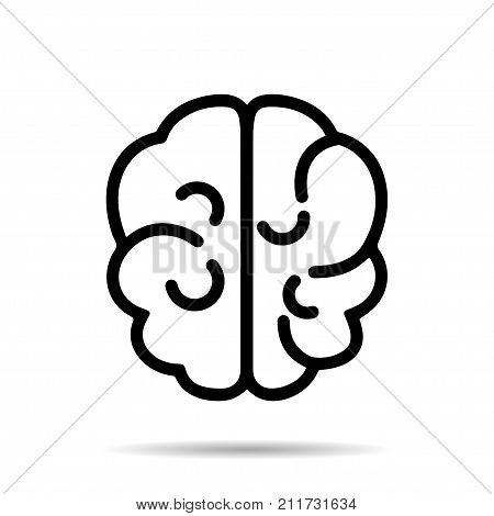 Brain icons. Brain logo silhouette design vector illustration. Idea concept. Brain logotype icon logo