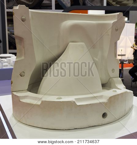 white mould for ceramic slip casting production processselective focus