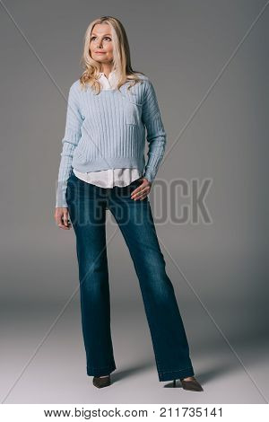 Mature Woman In Bell-bottoms