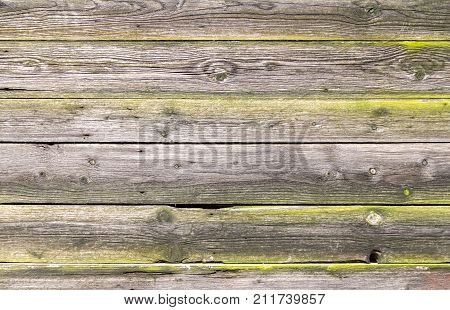 full frame background showing rundown wooden planks