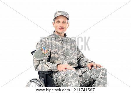 Military Man In Wheelchair