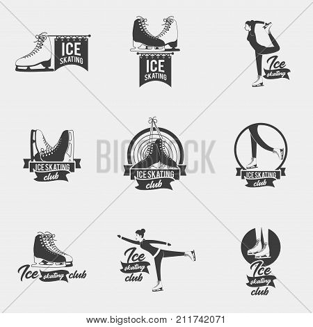 ice skating logo set vector photo free trial bigstock