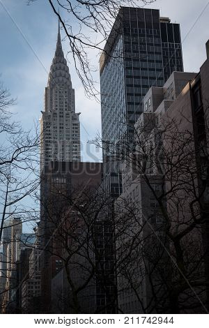 New York USA - March 1st 2017: The Chrysler Building in the Spring in New York USA.