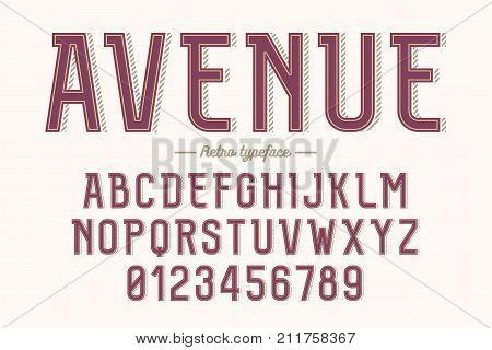 Decorative vector vintage retro typeface font alphabet letters typeface typography design