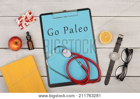 Medecine And Diet Concept - Clipboard With Text