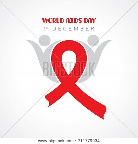 illustration of World AIDS Day stock vector