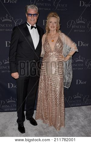 LOS ANGELES - OCT 25:  Steve Radenbaugh, Leith Eaton at the 2017 Princess Grace Awards Gala at the Beverly Hilton Hotel on October 25, 2017 in Beverly Hills, CA