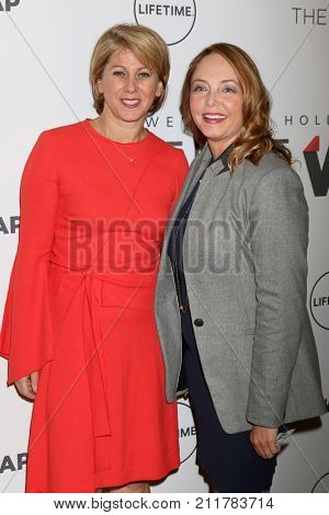 LOS ANGELES - OCT 26:  Sharon Waxman, Louisette Geiss at the Power Women Breakfast L.A. at the Montage Hotel on October 26, 2017 in Beverly Hills, CA