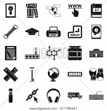 Theory icons set. Simple set of 25 theory vector icons for web isolated on white background